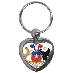 Coat Of Arms Of Chile  Key Chains (heart)