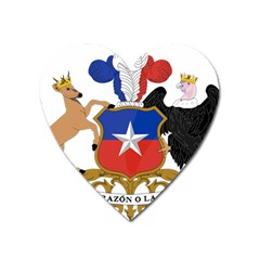 Coat Of Arms Of Chile  Heart Magnet