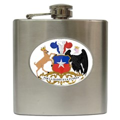 Coat Of Arms Of Chile  Hip Flask (6 Oz)