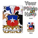 Coat Of Arms Of Chile  Playing Cards 54 Designs  Front - Club10