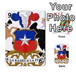 Coat Of Arms Of Chile  Playing Cards 54 Designs  Front - Spade9
