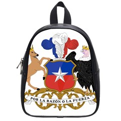 Coat Of Arms Of Chile  School Bags (small)