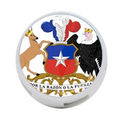 Coat Of Arms Of Chile  4 Port Usb Hub (one Side)