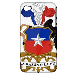 Coat Of Arms Of Chile  Apple Iphone 4/4s Hardshell Case (pc+silicone)