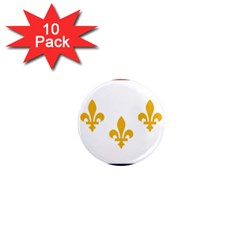 Flag Of New Orleans  1  Mini Magnet (10 Pack)