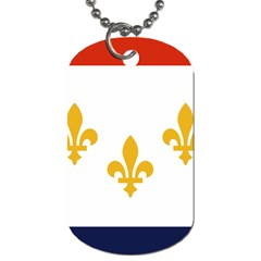 Flag Of New Orleans  Dog Tag (two Sides) by abbeyz71