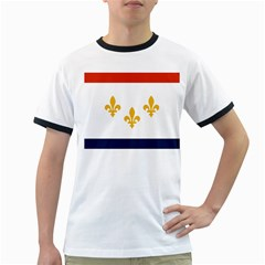 Flag Of New Orleans  Ringer T Shirts