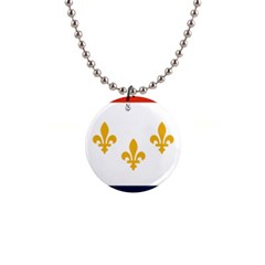 Flag Of New Orleans  Button Necklaces