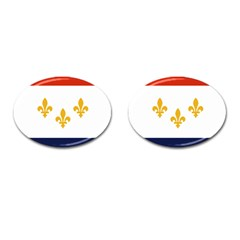 Flag Of New Orleans  Cufflinks (oval)