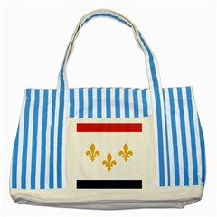 Flag Of New Orleans  Striped Blue Tote Bag by abbeyz71