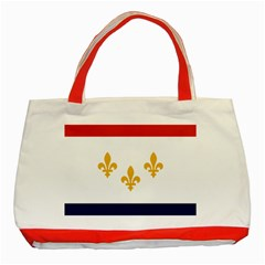 Flag Of New Orleans  Classic Tote Bag (red) by abbeyz71