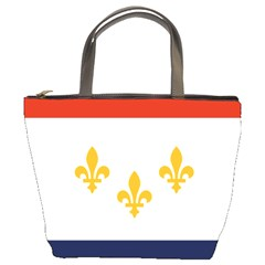 Flag Of New Orleans  Bucket Bags