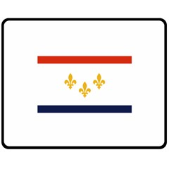 Flag Of New Orleans  Fleece Blanket (medium)  by abbeyz71