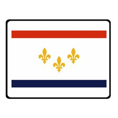 Flag Of New Orleans  Fleece Blanket (small) by abbeyz71