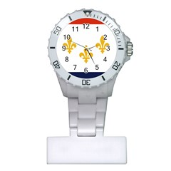 Flag Of New Orleans  Plastic Nurses Watch