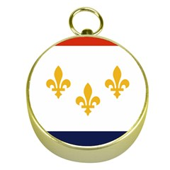 Flag Of New Orleans  Gold Compasses
