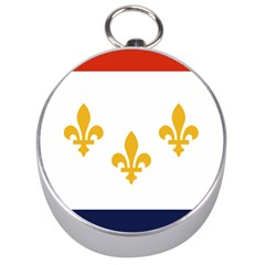 Flag Of New Orleans  Silver Compasses