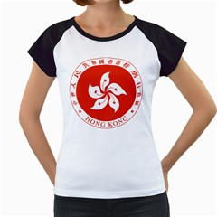 Emblem Of Hong Kong  Women s Cap Sleeve T