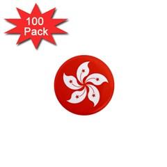 Emblem Of Hong Kong  1  Mini Magnets (100 Pack)