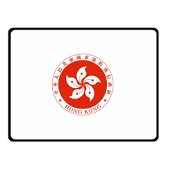 Emblem Of Hong Kong  Double Sided Fleece Blanket (small)