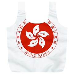 Emblem Of Hong Kong  Full Print Recycle Bags (l)