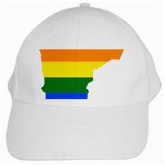 Lgbt Flag Map Of Minnesota  White Cap