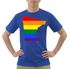 Lgbt Flag Map Of Minnesota  Dark T Shirt