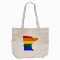 Lgbt Flag Map Of Minnesota  Tote Bag (cream)