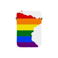Lgbt Flag Map Of Minnesota  Apple Ipad Mini Protective Soft Cases by abbeyz71