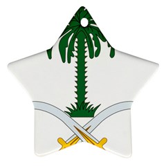 Emblem Of Saudi Arabia  Star Ornament (two Sides)