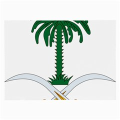 Emblem Of Saudi Arabia  Large Glasses Cloth
