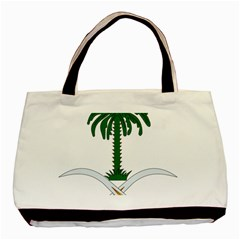 Emblem Of Saudi Arabia  Basic Tote Bag (two Sides)