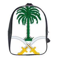 Emblem Of Saudi Arabia  School Bags(large)  by abbeyz71