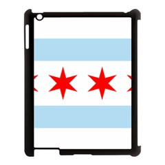 Flag Of Chicago Apple Ipad 3/4 Case (black)