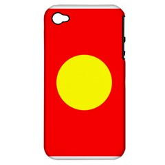 Flag Of Freetown Christiania Apple Iphone 4/4s Hardshell Case (pc+silicone)