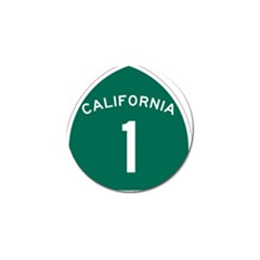 California 1 State Highway   Pch Golf Ball Marker (4 Pack) by abbeyz71