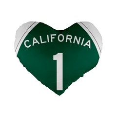 California 1 State Highway   Pch Standard 16  Premium Heart Shape Cushions