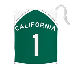 California 1 State Highway   Pch Drawstring Pouches (extra Large) by abbeyz71