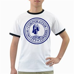 Seal Of Yonkers, New York  Ringer T Shirts