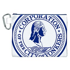 Seal Of Yonkers, New York  Canvas Cosmetic Bag (xxl) by abbeyz71