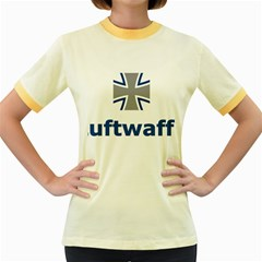 Luftwaffe Women s Fitted Ringer T Shirts
