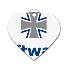 Luftwaffe Dog Tag Heart (one Side)