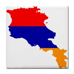 Flag Map Of Armenia  Tile Coasters