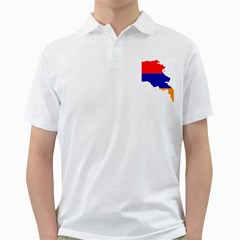 Flag Map Of Armenia  Golf Shirts