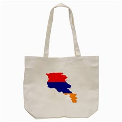 Flag Map Of Armenia  Tote Bag (cream)