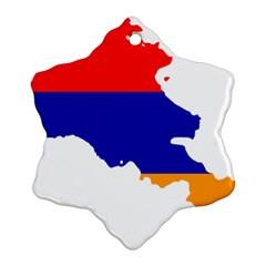 Flag Map Of Armenia  Snowflake Ornament (2 Side) by abbeyz71