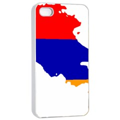 Flag Map Of Armenia  Apple Iphone 4/4s Seamless Case (white)