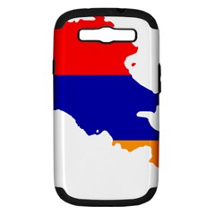 Flag Map Of Armenia  Samsung Galaxy S Iii Hardshell Case (pc+silicone)