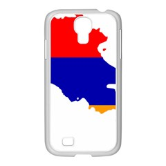 Flag Map Of Armenia  Samsung Galaxy S4 I9500/ I9505 Case (white)