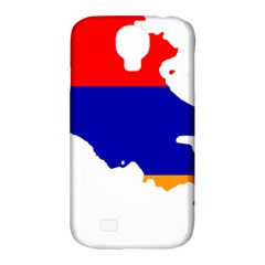 Flag Map Of Armenia  Samsung Galaxy S4 Classic Hardshell Case (pc+silicone)